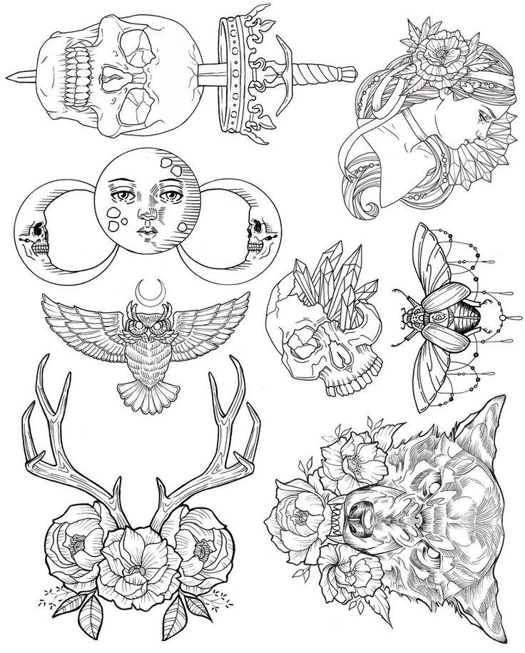 Wendy Ortiz Tattoo Flash First Edition Wish List