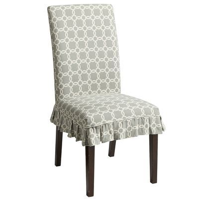 Pier1 Dana Slipcover Blue Geometric Dining Rooms Pinterest Chair Slipcovers Chairs