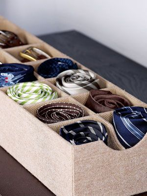 Use Sock Organizers for Ties and Belts  Sure, sock organizers are useful for keeping your drawers in tip-top shape. But they also work just as well for ties and belts