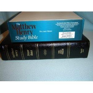 The Matthew Henry Study Bible: King James Version / Black ...