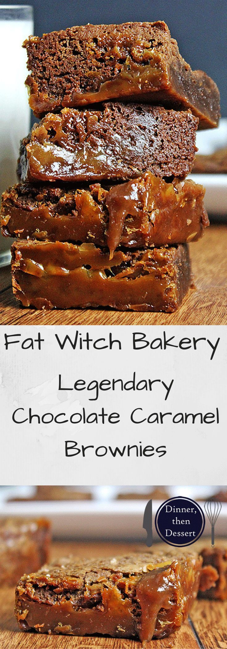Fat Witch Bakery's Legendary Chocolate Caramel Brownies are soft, crisp, gooey, chocolate-y, chewy, decadent, rich, fudgy and