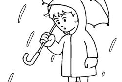Coloring Pages Umbrella