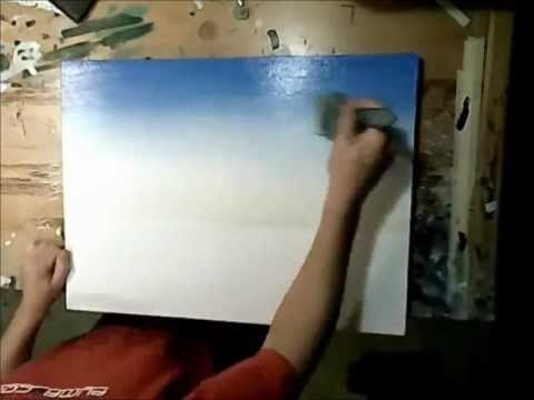 ▶ Art Lesson: How to paint a sky using acrylics. – YouTube