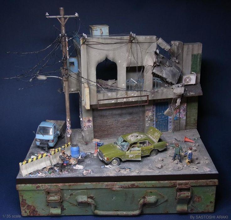 Unreal Miniature Dioramas Of Batmobile Urban Decay