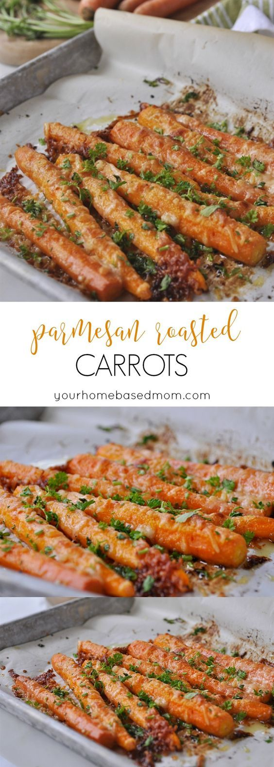 Parmesan Roasted Carrots – the perfect way to get your family to eat their veggies