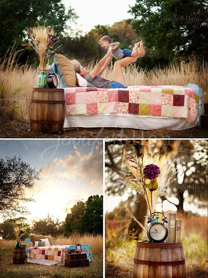 Outdoor Bed Setup Love The Warmth In Color Tones And The
