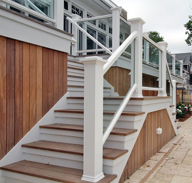 Outside Wood Handrails For Stairs Google Search | Glass Balusters For Stairs