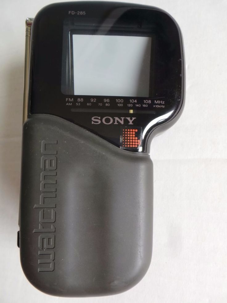 Vintage Sony Watchman FD 285 Portable BampW UHF VHF TV AM