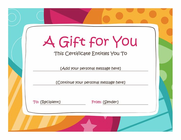 Birthday gift certificate template barn pinterest