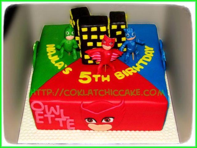 Cake pj mask f tessas birthday pinterest masks and