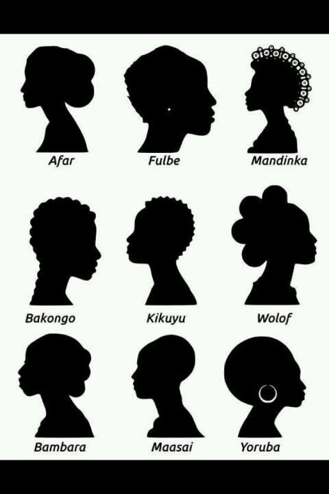 The Gallery For Gt African American Hair Silhouette