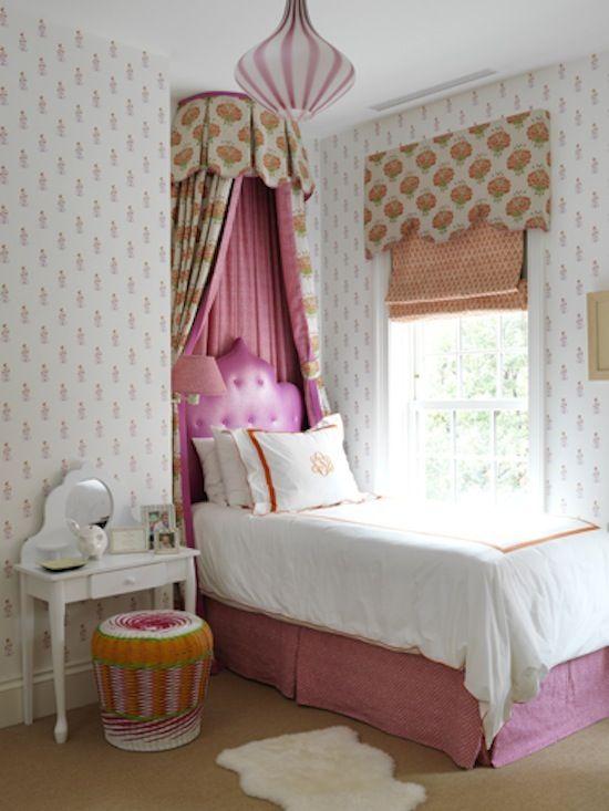 Elizabeth Bauer Teen Room Girls Room Roman Shade