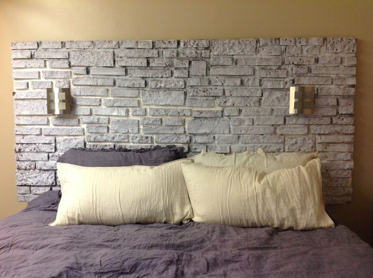Brick Headboard This Was A 5 Weekend Project Picture