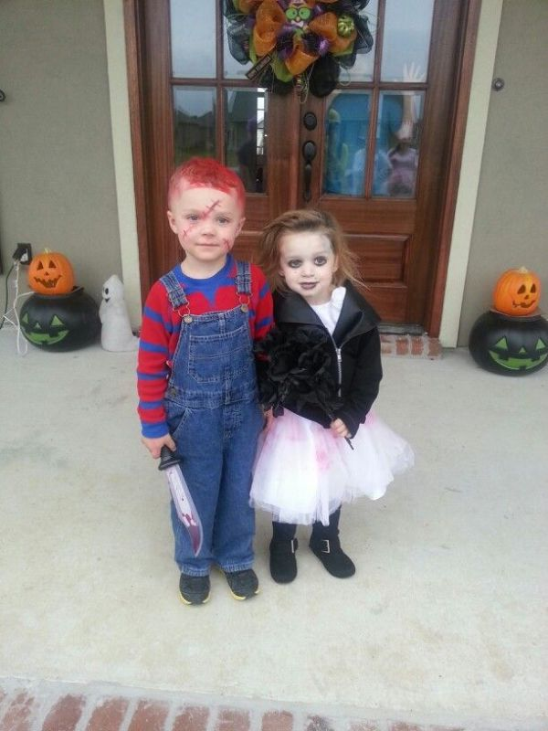 Chuckie and Bride of Chuckie Halloween kids costume