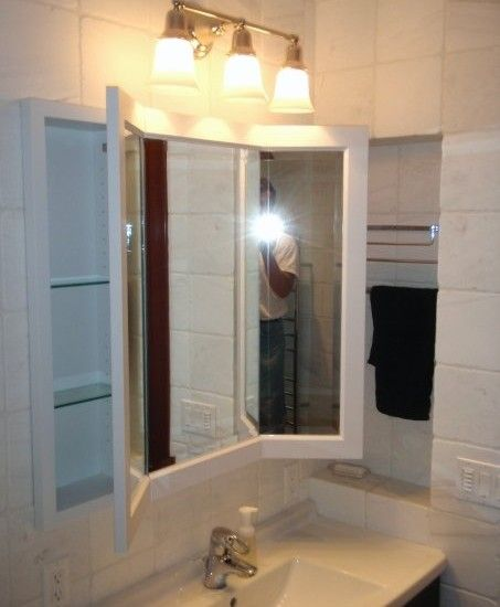 Excellent Three Way Vanity Mirror Design Traditional