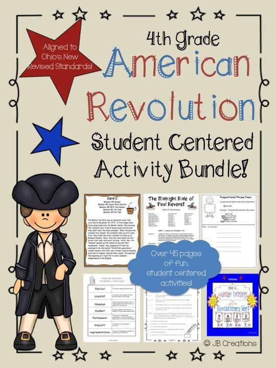 4th Grade American Revolutionary War Activity Bundle | Tea ...