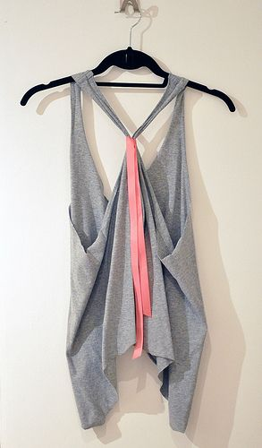 DIY racerback tank– turn that ugly BIG tee, into a sweet racerback! Easy to do.