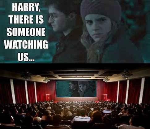 Hermione's sudden realization.   33 Harry Potter Jokes Even Muggles Will Appreciate