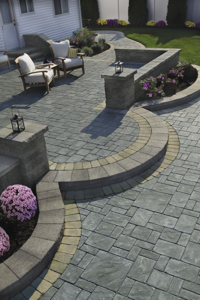 307 best Stone patio ideas images on Pinterest on Patio Stone Deck Ideas id=91684