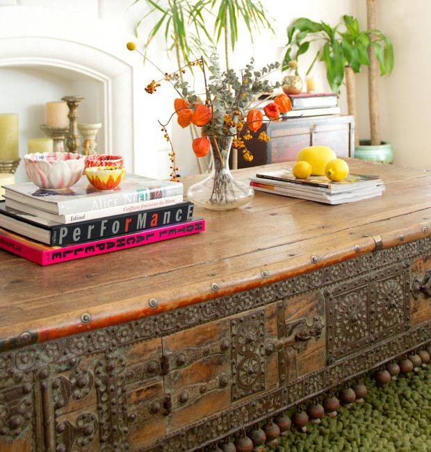new work nicole brown s eclectic worldly weho home beautiful coffee table design and love the on boho chic kitchen table decor id=17088