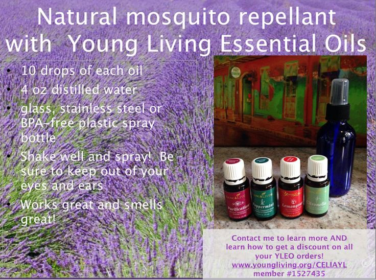 GREAT Mosquito Repellant With Healthy Natural Young