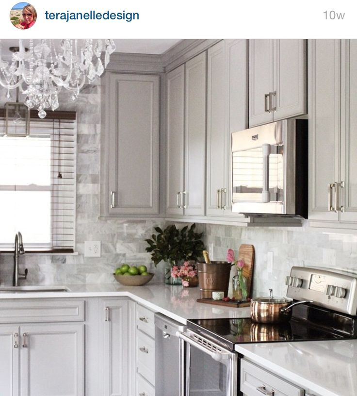 63 best images about kitchen remodel on pinterest stove gray cabinets and antique white kitchens on kitchen cabinets grey and white id=42054