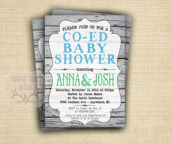 26 Images Co Ed Baby Shower Invitations