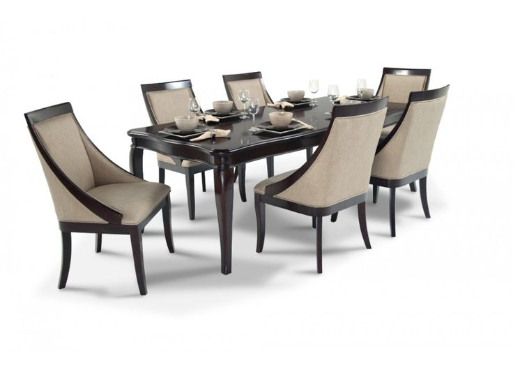 Gatsby 7 Piece Dining Set With Swoop Chairs Dining Room