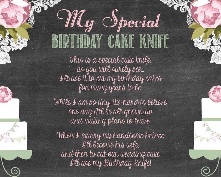 Shabby Chic Vintage Girly Baby Shower Birthday Cake Knife