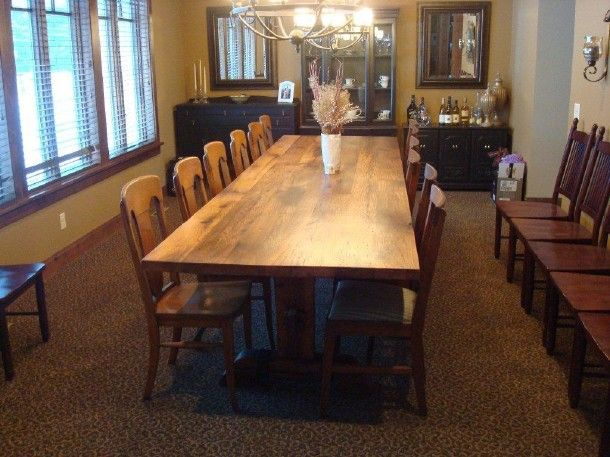 12 Foot Dining Room Table Fits 12 To 14 People Comfortably