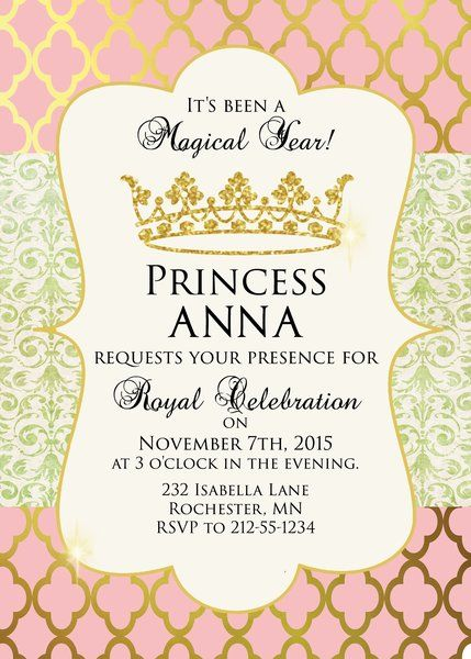 25 Best Ideas About Princess Party Invitations On Pinterest Princess Birthday Invitations