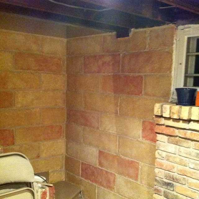 painted ugly old white cinder blocks to match the existing on paint for basement walls id=37897