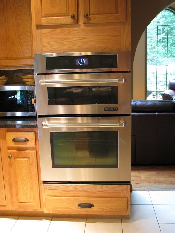 Double Wall Oven Like The Smaller Oven Too For The Home Pinterest Double Wall Ovens