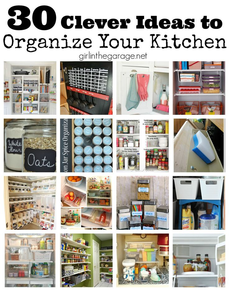 30 clever ideas to organize your kitchen common sense on clever ideas for diy kitchen cabinet organization tips for organizers id=74199