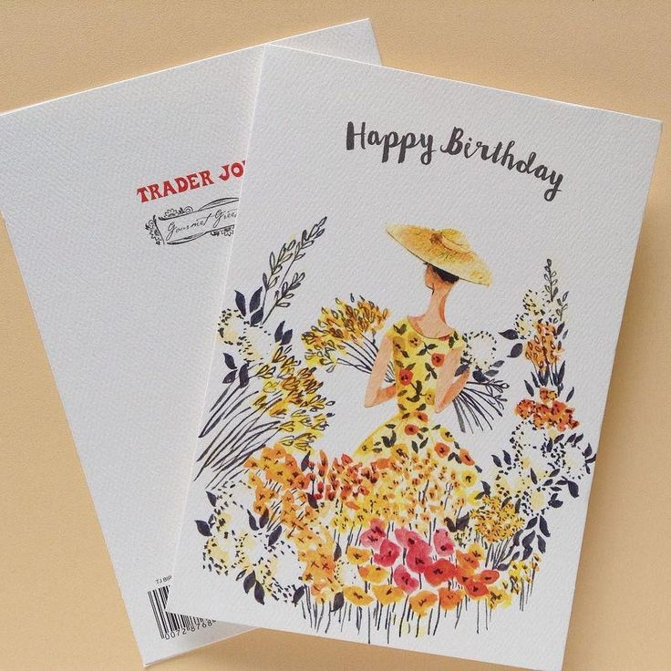 Emma block on trader joes greeting card and cards