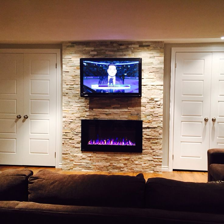 42 tv and napoleon electric fireplace with beachwood on wall tile id=62214