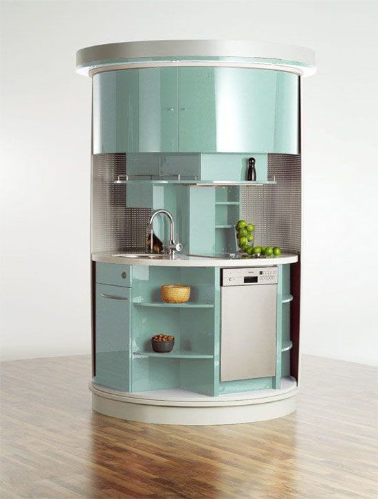 Circle kitchen island cabinet for small place kitchens