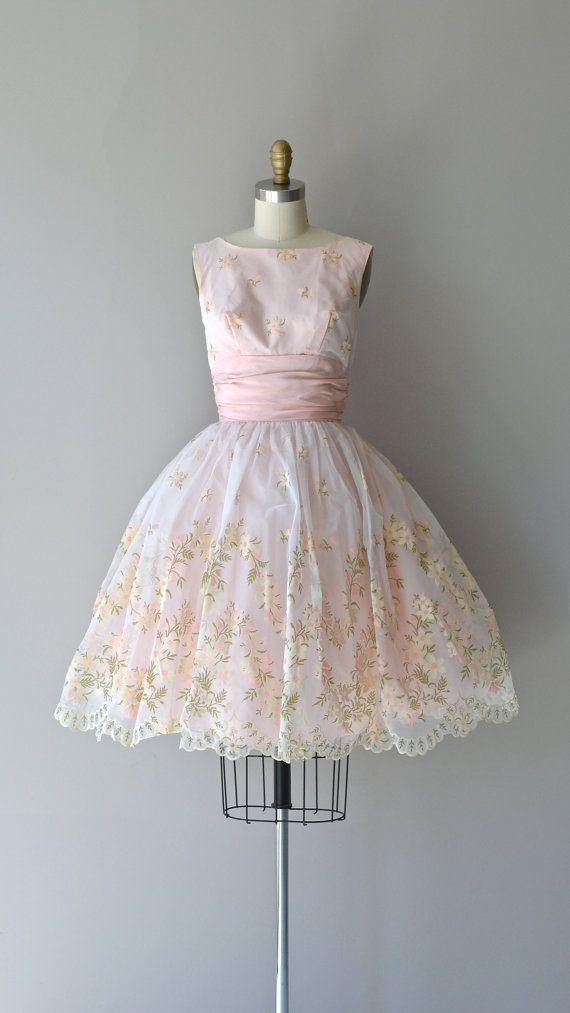 Sweet Nothings Dress Vintage 1950s Dress Pink By