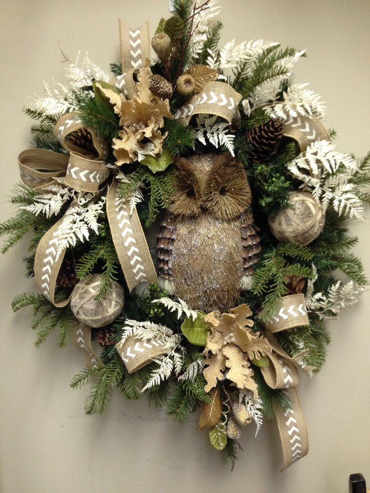 17 Best Ideas About Owl Wreaths On Pinterest Fall Door