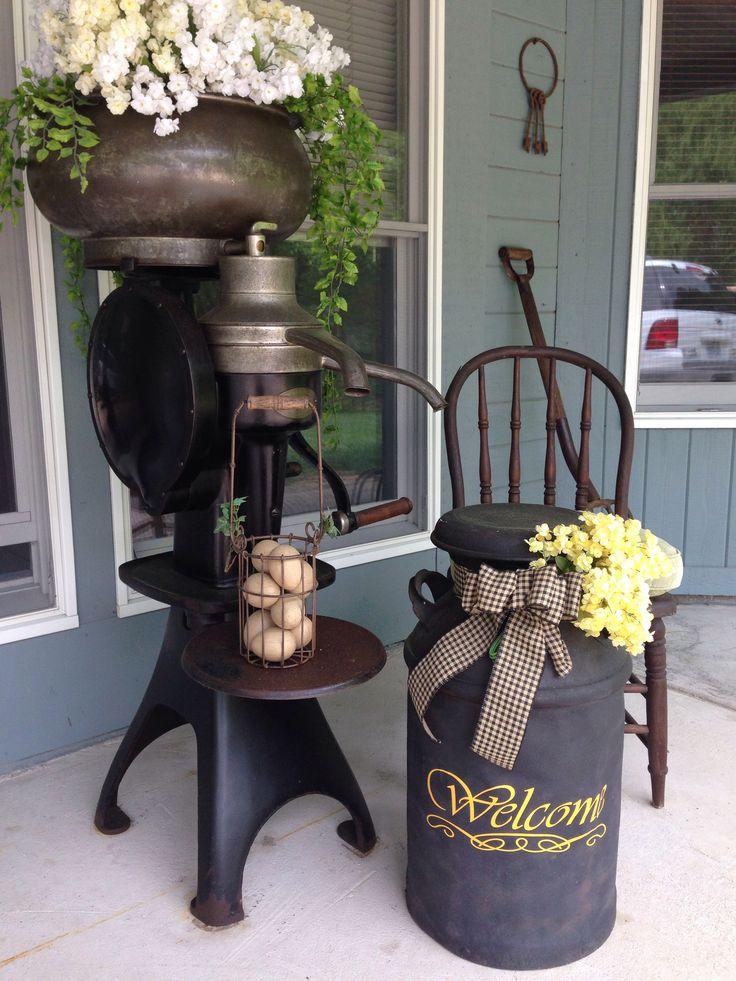 Cream Separator Front Porch 2014 Pinterest Porch Front Porches And Gardens