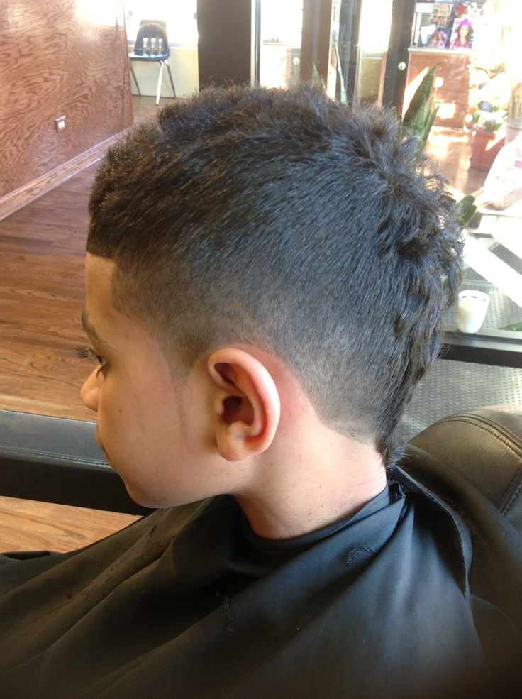 Faded Mohawk With 3 Part Design BJ The Barber