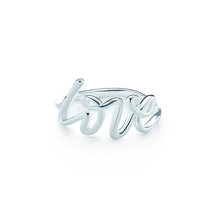 Paloma Picasso® Love ring in sterling silver. | Tiffany & Co. size 4.5 $175