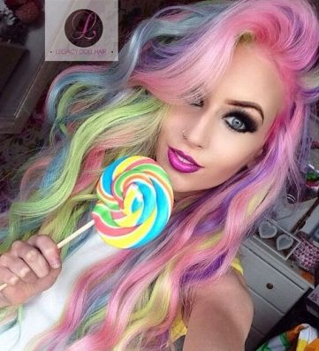 this hair is like super awesome and it combines with the lollipop I'll do anything for this hair like omg