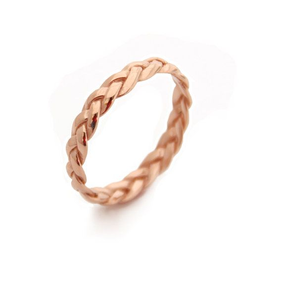 Braided Rose Gold Ring,Gold