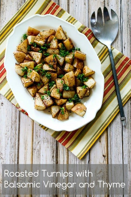 Roasted Turnips with Balsamic Vinegar and Thyme (Paleo, Low-Carb) – Kalyns Kitchen
