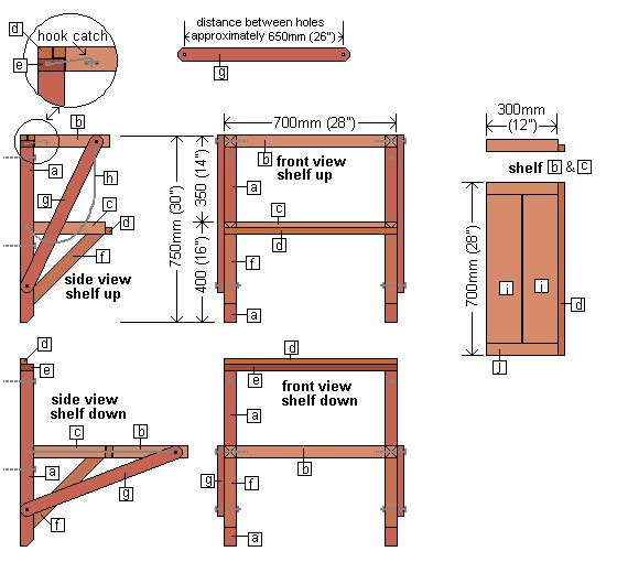 How To Make A Wall Mounted Folding Work Bench This One
