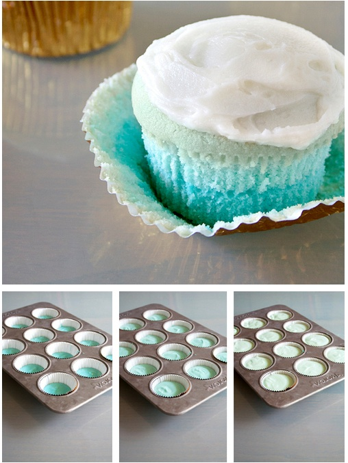Blue Ombre Cupcakes Tutorial Httpthecakebartumblrcom