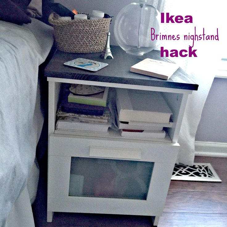Ikea Brimnes Nightstand Hack An Easy Diy To Dress Up The