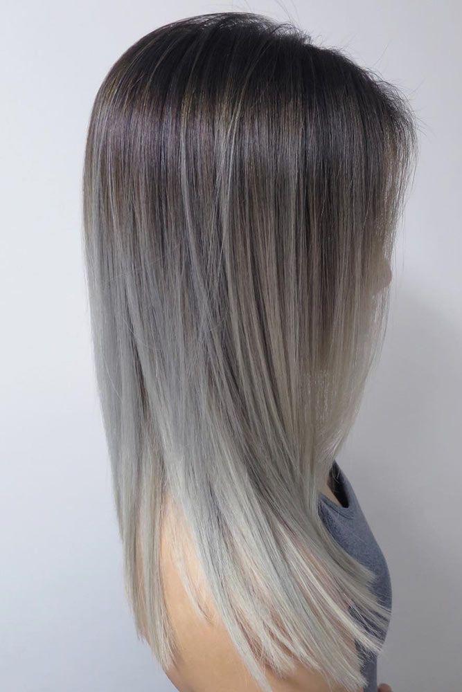 Best 20 Grey Ombre Hair Ideas On Pinterest Grey Dyed