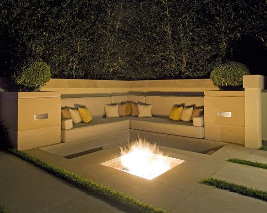 Recessed fire pit | exteriors.dreamhome | Pinterest | Gas ... on Modern Boma Ideas id=97933